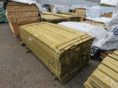 PACK OF TREATED FEATHER EDGE TIMBER FENCE CLADDING, 1.78M LENGTH X 100MM WIDTH APPROX.