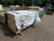 PACK OF UNTREATED SHIPLAP TIMBER FENCE CLADDING, 1.73M LENGTH X 95MM WIDTH APPROX.