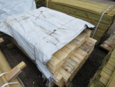 PACK OF UNTREATED SHIPLAP TIMBER FENCE CLADDING, MIXED LENGTHS, 1.13M - 1.73M LENGTH X 95MM WIDTH AP