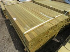 PACK OF TREATED TIMBER FENCE RAILS, 1.72M LENGTH X 45MM X 16MM WIDTH APPROX.