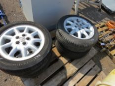 4 X VW ALLOY WHEELS AND TYRES 205-50R15.