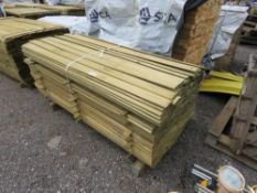 PACK OF TREATED SHIPLAP TIMBER FENCE CLADDING, 1.72M LENGTH X 95MM WIDTH APPROX.