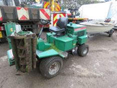 RANSOMES 213 TRIPLE MOWER WITH KUBOTA ENGINE. WHEN TESTED WAS SEEN TO RUN, DRIVE AND MOWERS TURNED.