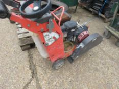 HUSQVARNA PETROL FLOOR SAW, INCOMPLETE.SOURCED FROM MAJOR ROAD CONTRACTOR.