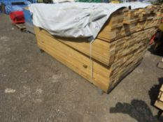 PACK OF UNTREATED TIMBER SLATS/BOARDS 70MM X 20MM X 1.86M APPROX.
