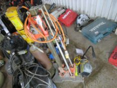 YELLOW DIAMOND DRILL RIG WITH PUMP. UNTESTED, CONDITION UNKNOWN.