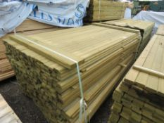 PACK OF TREATED TIMBER FENCE RAILS, 1.81M LENGTH X 45MM X 16MM WIDTH APPROX.