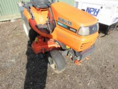 KUBOTA G21 PROFESSIONAL DIESEL RIDE ON MOWER WITH POWER STEERING. 1241 REC HOURS. WHEN TESTED WAS SE