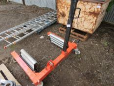 TRACTOR / LORRY TYRE REMOVING TROLLEY UNIT.