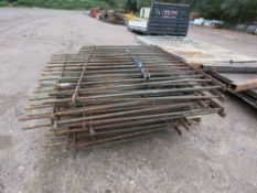 LARGE STACK OF OLD IRON RAILINGS, 1.3M HEIGHT APPROX. NO VAT ON HAMMER PRICE.
