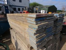 SCAFFOLD BOARDS, 1.5M LENGTH APPROX, 64NO IN TOTAL.