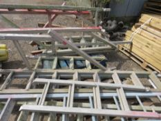 2 X PALLETS OF ALLOY SCAFFOLD LADDER SECTIONS.