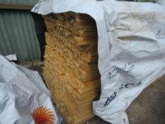 LARGE PACK OF UNTREATED VENETIAN SLATS, 1.84M LENGTH X 45MM X 18MM APPROX.