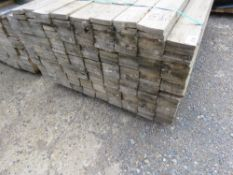 LARGE PACK OF UNTREATED FENCE CLADDING TIMBER BOARDS, 1.72M LENGTH X 10CM WIDTH X 2CM DEPTH APPROX.