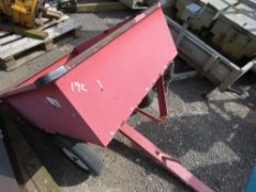 SMALL TIPPING TRAILER FOR GARDEN TRACTOR.