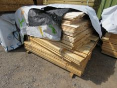 LARGE PACK OF UNTREATED SHIPLAP CLADDING TIMBER, 1.54-1.72M LENGTH X 9.5CM WIDTH APPROX.