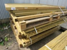APPROX 18 X TIMBER FENCE PANELS, ASSORTED TYPES.