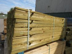 LARGE PACK OF TREATED FEATHER EDGE FENCE CLADDING TIMBER BOARDS, 1.64M LENGTH X 10CM WIDTH APPROX.