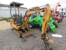 CASE CX15B RUBBER TRACKED MINI EXCAVATOR, YEAR 2008, 1NO BUCKET AS FITTED. 1608 HOURS RECORDED.