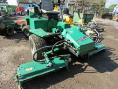 RANSOMES 213 HIGHWAY TRIPLE RIDE ON MOWER. YEAR 1995. 1956 REC HOURS.
