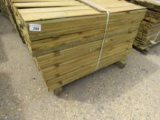 LARGE PACK OF FEATHER EDGE FENCE CLADDING TIMBER BOARDS, 1.19M LENGTH X 10CM WIDTH APPROX.