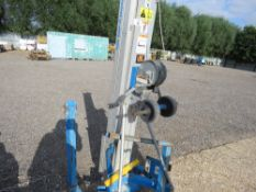 GENIE SLA10 MATERIAL HOIST UNIT WITH FORKS. YEAR 2015 BUILD. DIRECT FROM LOCAL COMPANY AS PART OF TH