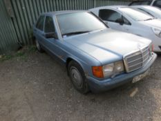 MERCEDES 190 PETROL SALOON CAR, AUTO, REG:G742 APU. EXHAUST BLOWING. 138,616 REC MILES. WHEN TESTED