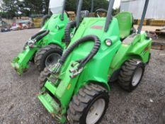 AVANT 420 COMPACT SIZED PIVOT STEER TELESCOPIC LOADER, YEAR 2011. 1718 REC HOURS. SN:61532112. WHEN