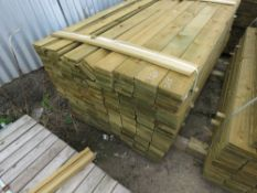 LARGE PACK OF FEATHER EDGE FENCE CLADDING TIMBER BOARDS, 1.64M LENGTH X 10CM WIDTH APPROX.