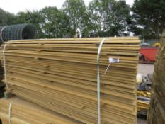LARGE PACK OF PRESSURE TREATED SHIPLAP FENCING TIMBER. 1.74M LENGTH X 9.5CM WIDTH APPROX.