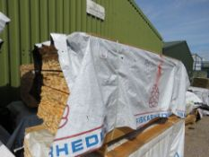 LARGE PACK OF UNTREATED VENETIAN BAR CLADDING TIMBERS, 1.83M LENGTH X 45MM WIDTH X 18MM DEPTH APPROX