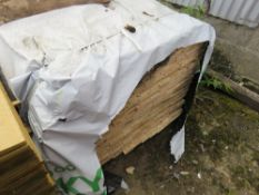 PACK OF UNTREATED SHIPLAP TIMBER FENCE CLADDING, 1.12M LENGTH X 95MM WIDTH APPROX.