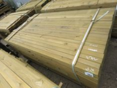 LARGE PACK OF VENETIAN SLAT FENCE CLADDING TIMBERS, 1.72M LENGTH X 45MM X 16MM APPROX.