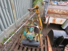 WACKER DIESEL COMPACTION PLATE WITH HANDLE.