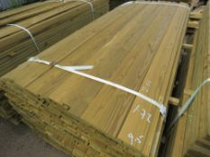LARGE PACK OF SHIPLAP FENCE CLADDING TIMBER BOARDS, 1.72M LENGTH X 9.5CM WIDTH APPROX.