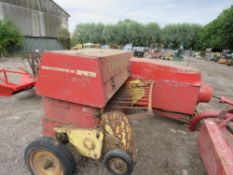 NEW HOLLAND HAYLINER 274 CONVENTIONAL BALER PLUS A TOWED FLAT 8 BALE ACCUMULATOR