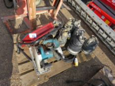PALLET CONTAINING 7 X SUBMERSIBLE WATER PUMPS PLUS A HEATER AND 4 X POWER TOOLS. UNTESTED, CONDITION