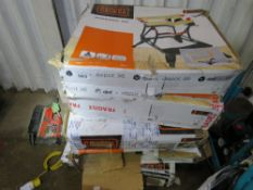 5 X BLACK AND DECKER WORKMATE UNITS.
