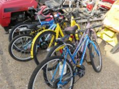 5 X ASSORTED BICYCLES. NO VAT ON HAMMER PRICE.
