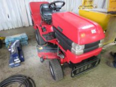 WESTWOOD T1600 HYDRO RIDE ON MOWER WITH COLLECTOR. WHEN TESTED WAS SEEN TO RUN, DRIVE, AND BLADES TU