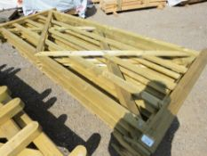 4 X TIMBER FIELD GATES @ 3M LENGTH APPROX.