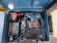2 X BOSCH 24VOLT DRILLS IN CASES. BEEN IN LONG TERM STORAGE, UNTESTED, CONDITION UNKNOWN.