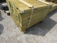 PACK OF TREATED FEATHER EDGE CLADDING, 1.19M X 10CM WIDTH APPROX.