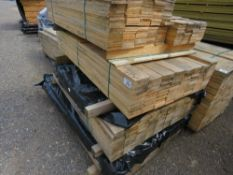 STACK CONTAINING 4 BUNDLES OF UNTREATED FENCE CLADDING TIMBER BOARDS, 1.14M -1.73M LENGTHAPPROX.