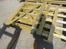 4 X ASSORTED TIMBER FIELD GATES: 0.9M, 1.2M, 1.5M, 2.1M APPROX.