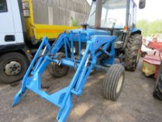 FORD 5030 2WD TRACTOR WITH FOREND LOADER. 3671 REC HOURS. REG:K189 JVW YEAR 1993 (LOG BOOK TO APPLY