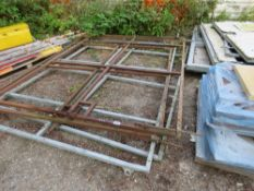 2 X PAIRS OF METAL GATE FRAMES, 2.35M HEIGHT X 3M WIDE EACH (6M SPAN APPROX EACH PAIR).