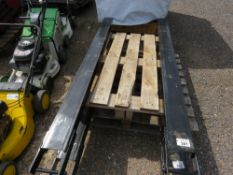 """PAIR OF 6FT LENGTH FORKLIFT EXTENSION FORK TINES / SLEEVES. 5"""" WIDTH, WITH LOCKING PINS."""