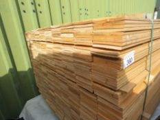 LARGE PACK OF UNTREATED HIT AND MISS CLADDING TIMBER, 1.37M LENGTH X 10CM WIDTH APPROX.
