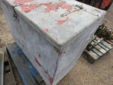 LARGE GALVANISED FEED BIN WITH LOCKABLE HASP. NO VAT ON HAMMER PRICE.